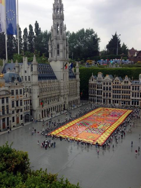 ковёр из цветов Брюссель