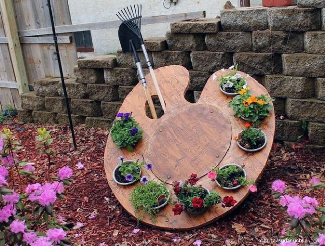интересные идеи цветников