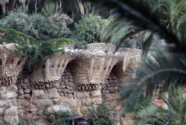 парк Гуэль пальмы